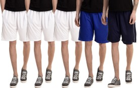 Dee Mannequin Solid Men's White, White, White, Dark Blue, Blue Basic Shorts