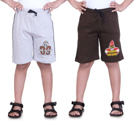 Dongli Printed Boy's Grey, Brown Sports Shorts