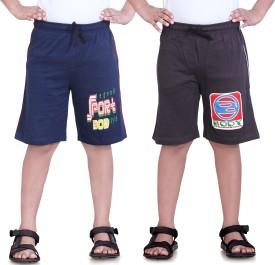 Dongli Printed Boy's Dark Blue, Multicolor Sports Shorts