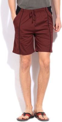 Hanes Hanes Solid Men's Shorts (Maroon)