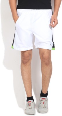 Edge Edge Self Design Men's Sports Shorts (White)