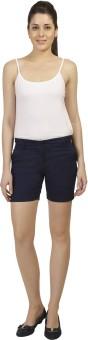 Ashdan Solid Women's Dark Blue Basic Shorts