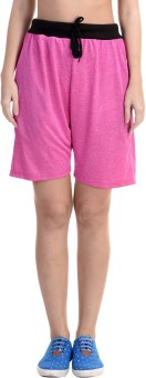 Meebaw Solid Women's Pink, Blue Gym Shorts