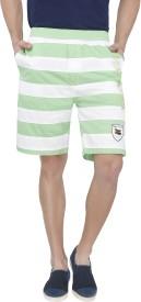 Origin Striped Men's Green Basic Shorts