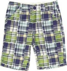 SuperYoung Printed Boy's Green Bermuda Shorts