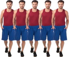 Meebaw Self Design Men's Blue, Blue, Blue, Blue, Blue Sports Shorts