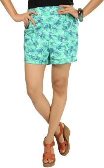 9Wearhouse Printed Women's High Waist Shorts - SRTE8YHTD6ZFTEYA