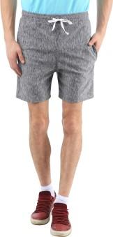 SPAWN Solid Men's Grey Basic Shorts