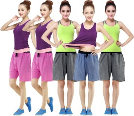 RIPR Self Design Women's Blue, Grey, Pink Sports Shorts