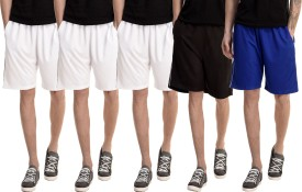 Dee Mannequin Solid Men's White, White, White, Blue, Black Basic Shorts