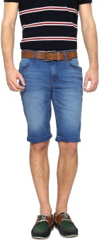 SF Jeans By Pantaloons Solid Men's Denim Shorts