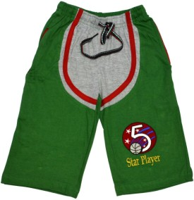 Just In Plus Just In Plus Green Solid Baby Boy's Basic Shorts