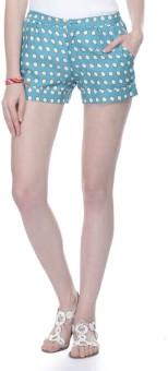 Lavennder Polka Print Women's Basic Shorts