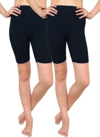 Goodtry Solid Women's Cycling Shorts