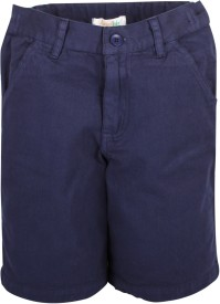 Apricot Kids Printed Boy's Dark Blue Basic Shorts