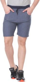 Rose Taylor Striped Men's Blue Basic Shorts