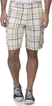 LA ATTIRE Checkered Men's White Night Shorts, Cycling Shorts, Basic Shorts, Boxer Shorts