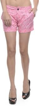 Sobre Estilo Pink Floral Print Women's Hotpants