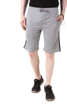 Aventura Outfitters Grey Solid Men's Basic Shorts