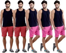 Dee Mannequin Self Design Men's Red, Red, Pink, Pink, Pink Sports Shorts