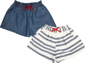 My Lil' Berry Self Design Baby Girl's Multicolor Basic Shorts
