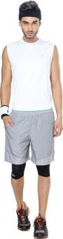Proline Active Printed Men's Reversible Grey Denim Shorts