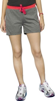 DFH Solid Women's, Girl's Grey, Red Basic Shorts, Gym Shorts, Beach Shorts, Night Shorts, Running Shorts, Sports Shorts