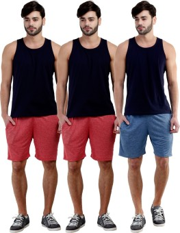 Dee Mannequin Self Design Men's Red, Red, Dark Blue Sports Shorts