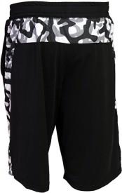 Arcley Solid, Printed Men's Black Gym Shorts