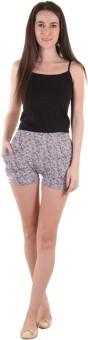 SLS Printed Women's Reversible Grey Basic Shorts