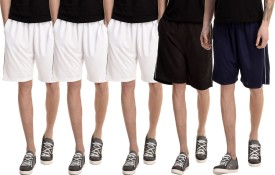 Dee Mannequin Solid Men's White, White, White, Dark Blue, Black Basic Shorts