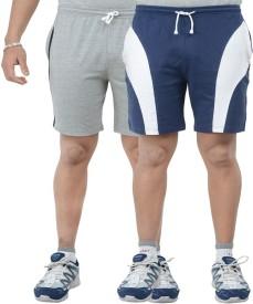 TeesTadka Solid Men's Multicolor Sports Shorts