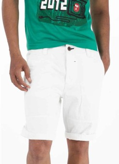 Basics Solid Men's White Basic Shorts