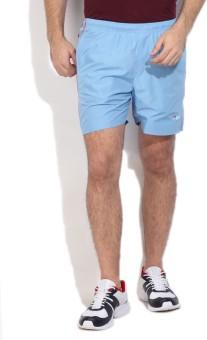 Fila Solid Men's Light Blue Sports Shorts