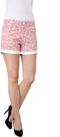 Aardee Floral Print Women's Denim Shorts