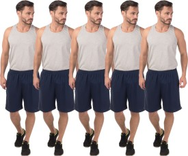 Meebaw Self Design Men's Dark Blue, Dark Blue, Dark Blue, Dark Blue, Dark Blue Sports Shorts