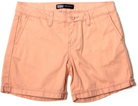 Levis Kids Solid Girl's Basic Shorts