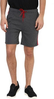 Yepme Solid Men's Grey Basic Shorts