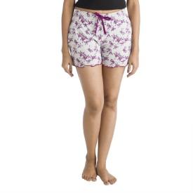 Nite Flite Printed Women's Purple, Grey Night Shorts
