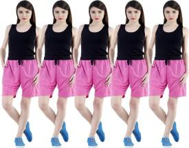 Dee Mannequin Self Design Women's Pink, Pink, Pink, Pink, Pink Sports Shorts