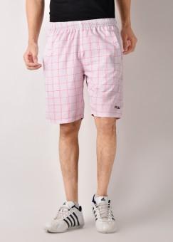 Fila Checkered Men's White, Red Shorts