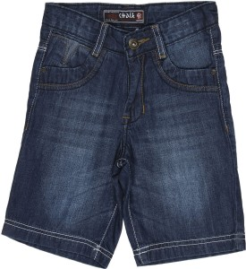 Chalk By Pantaloons Solid Boy's Denim Denim Shorts