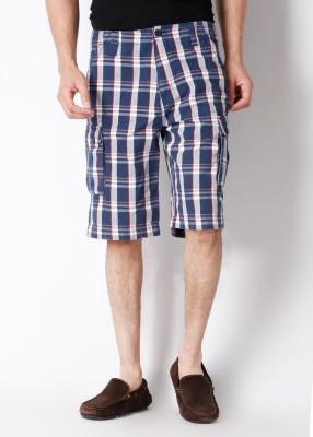 Wrangler Wrangler Checkered Men's Shorts (Blue)