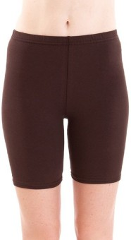 Fashion Line Brown Solid Women's Cycling Shorts