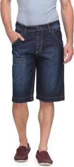 Wear Your Mind Solid Men's Denim Denim Shorts