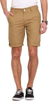 Ennoble Solid Men's Beige Basic Shorts