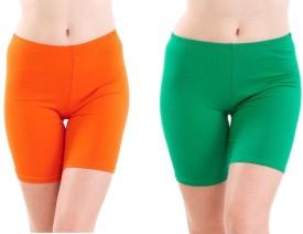 Fashion Line Solid Women's Cycling Shorts