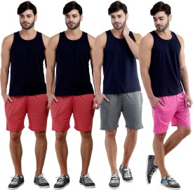Dee Mannequin Self Design Men's Red, Red, Grey, Pink Sports Shorts