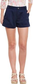 Diachic Solid Women's Dark Blue Basic Shorts