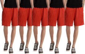 Gaushi Solid Men's Red, Red, Red, Red, Red Sports Shorts